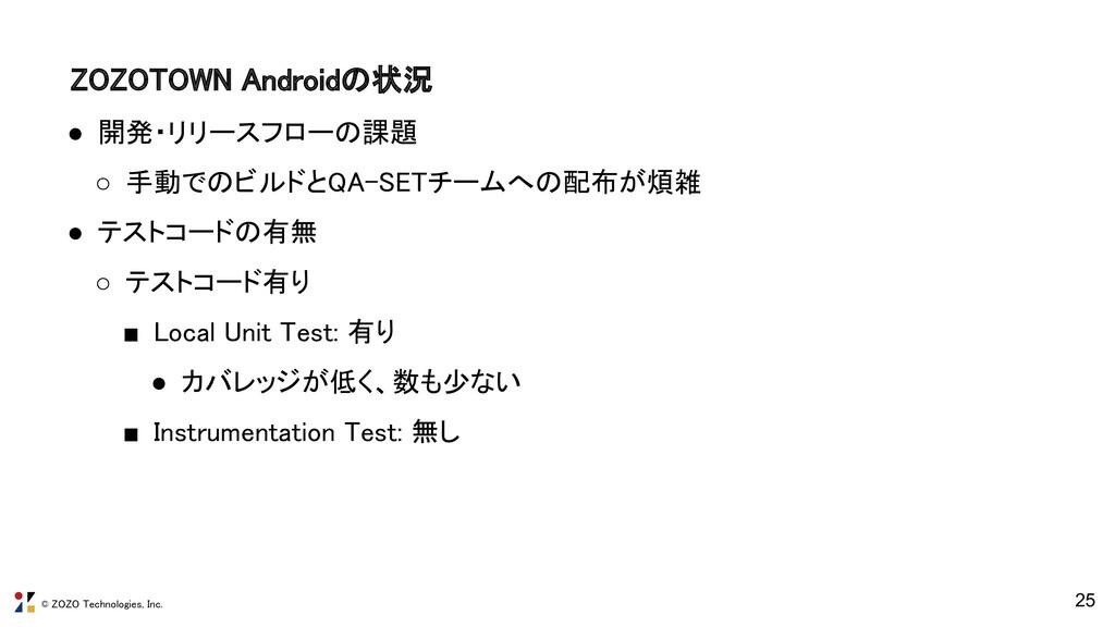© ZOZO Technologies, Inc. ZOZOTOWN Androidの状況 ...