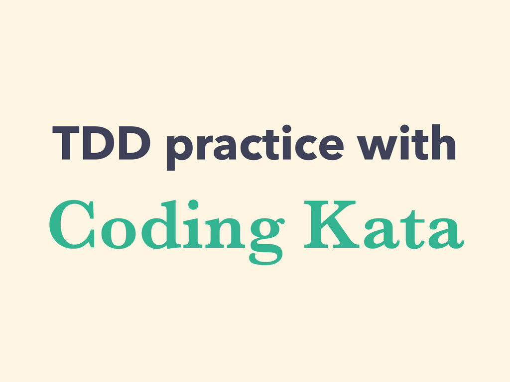 Coding Kata TDD practice with