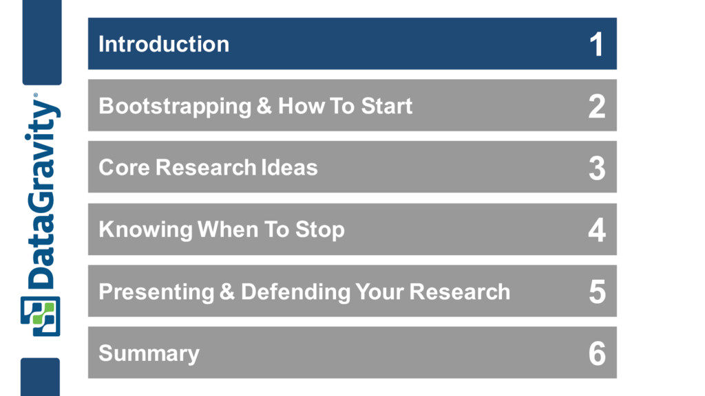 Bootstrapping & How To Start Core Research Idea...