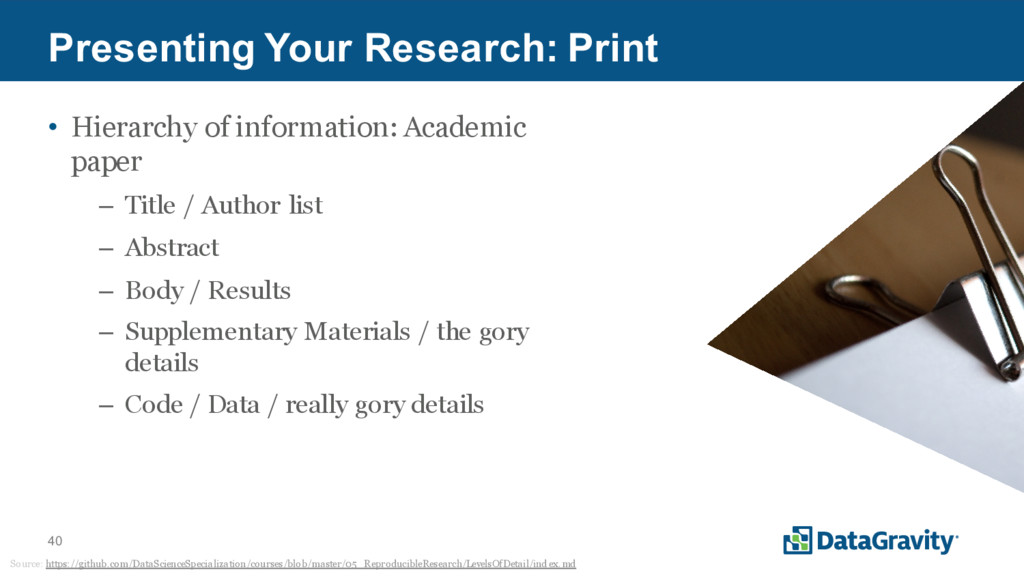 40 Presenting Your Research: Print • Hierarchy ...