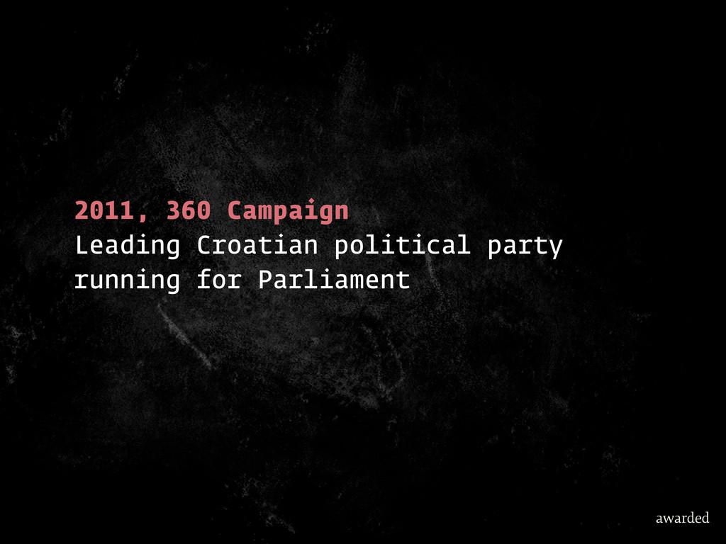 2011, 360 Campaign Leading Croatian political p...