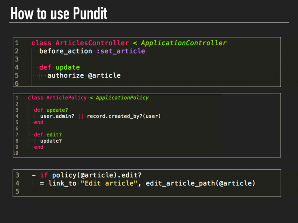 How to use Pundit v