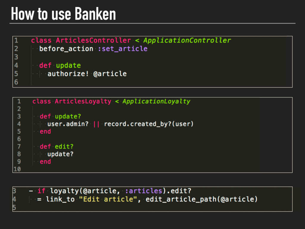 How to use Banken v