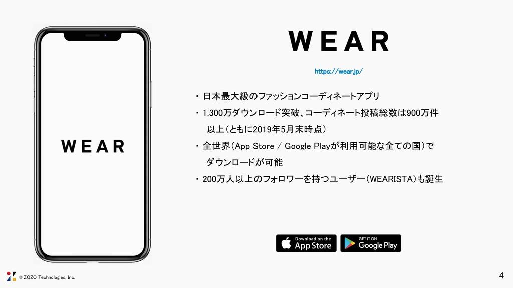 © ZOZO Technologies, Inc. https://wear.jp/ ・ 日...