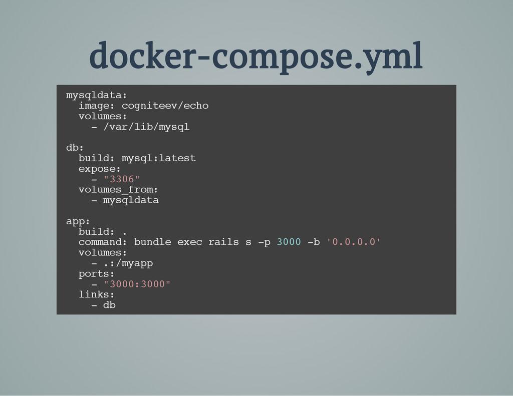 docker-compose.yml m y s q l d a t a : i m a g ...