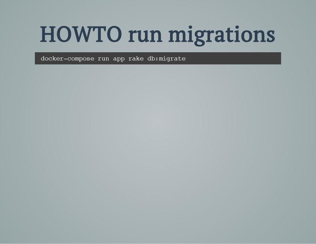 HOWTO run migrations d o c k e r - c o m p o s ...