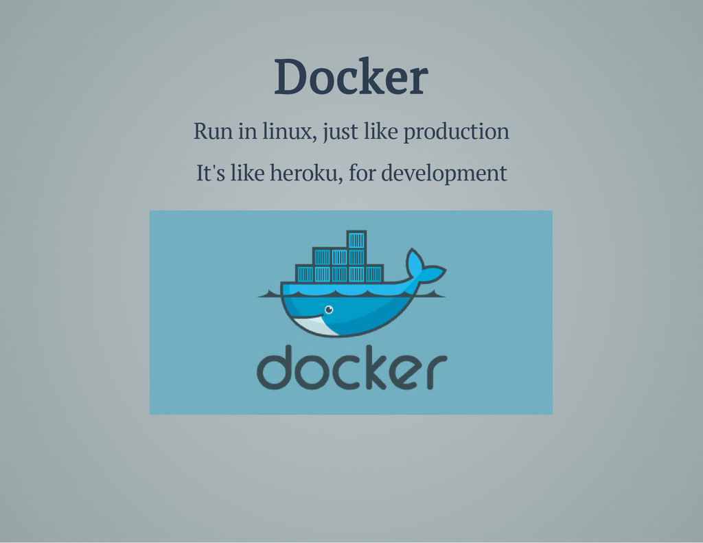 Docker Run in linux, just like production It's ...