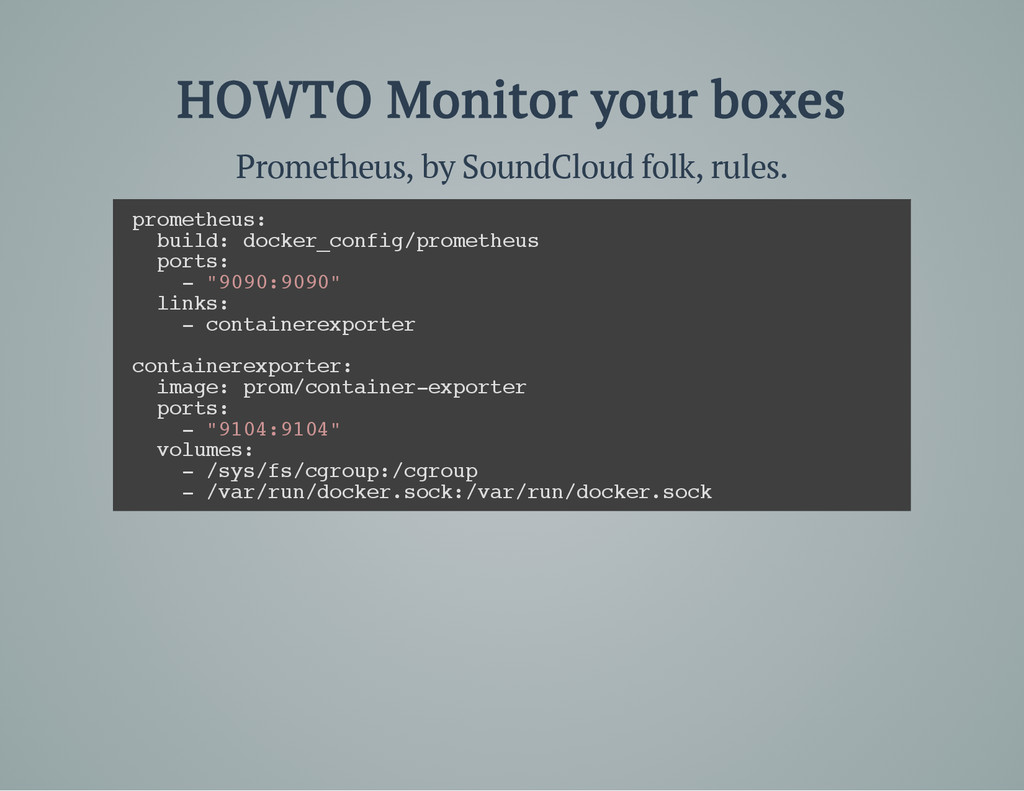 HOWTO Monitor your boxes Prometheus, by SoundCl...