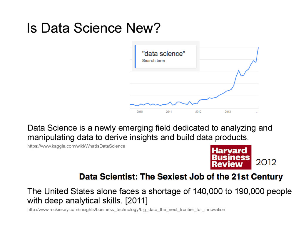 Is Data Science New? Data Science is a newly em...
