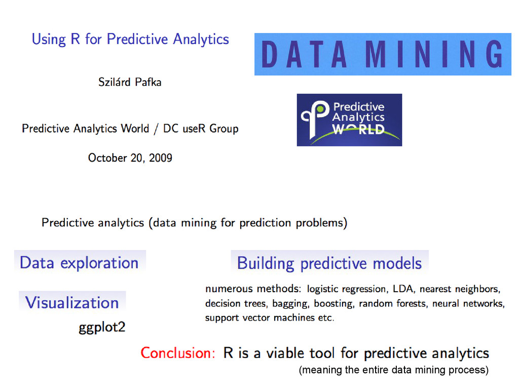 (meaning the entire data mining process)