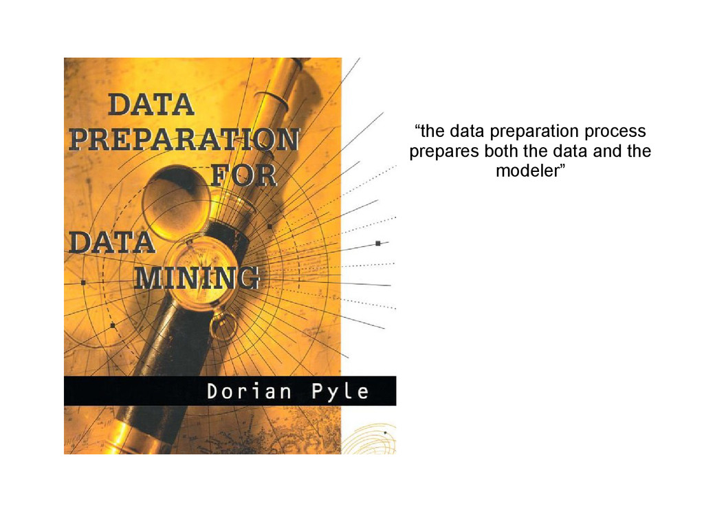 """the data preparation process prepares both the..."