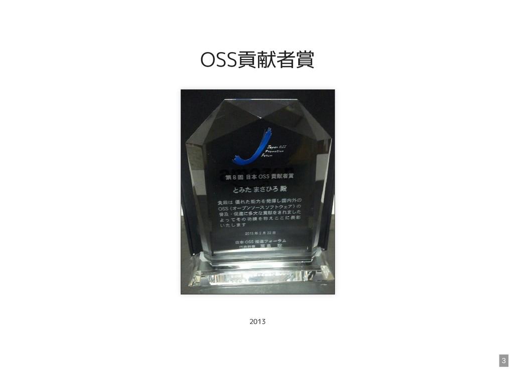 OSS貢献者賞 2013 3