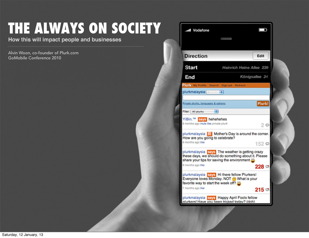 THE ALWAYS ON SOCIETY How this will impact peop...