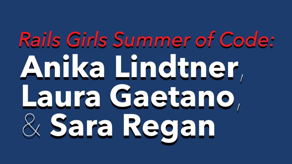 Anika Lindtner, Laura Gaetano, & Sara Regan Rai...