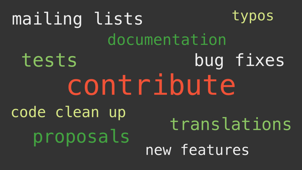 contribute tests bug fixes documentation transl...