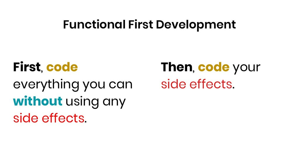 First, code everything you can without using an...