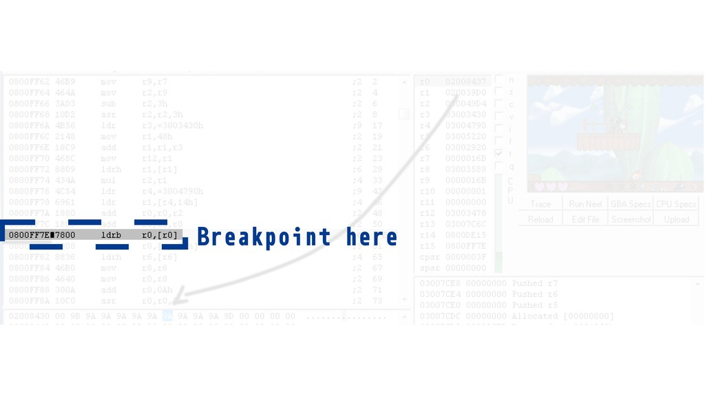 Breakpoint here