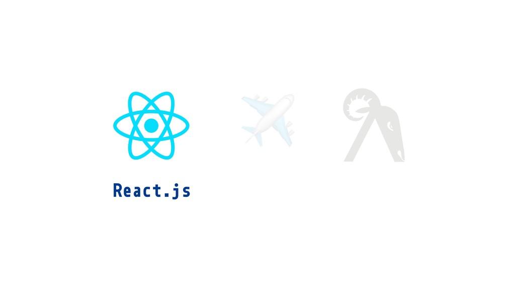 React.js ✈