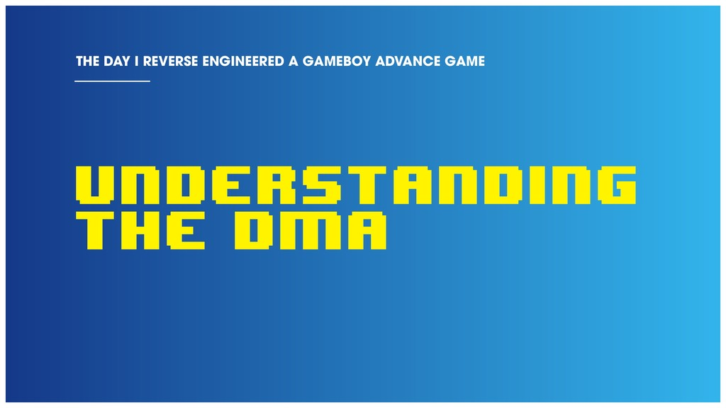 Understanding the DMA THE DAY I REVERSE ENGINEE...