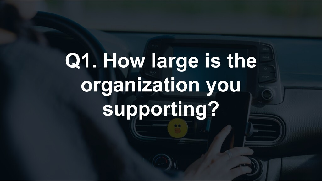 Q1. How large is the organization you supportin...