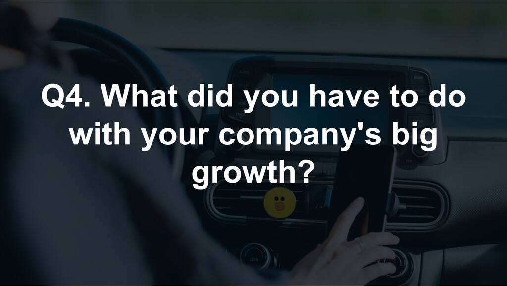 Q4. What did you have to do with your company's...