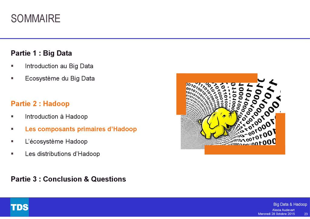 23 Big Data & Hadoop Alexia Audevart Mercredi 2...