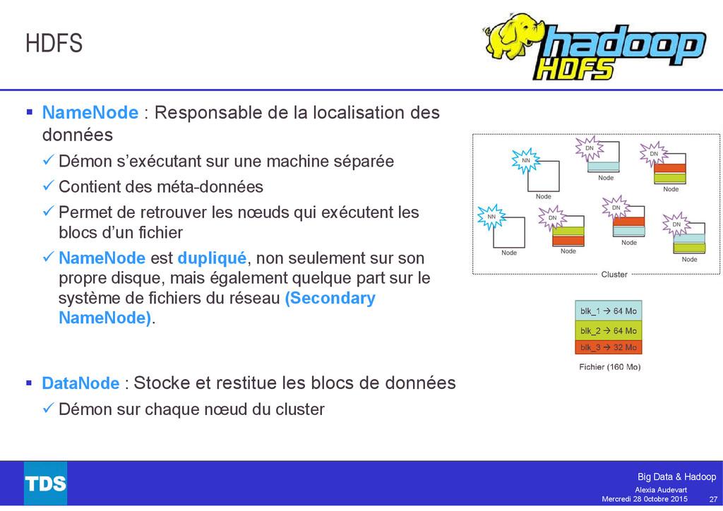 27 Big Data & Hadoop Alexia Audevart Mercredi 2...
