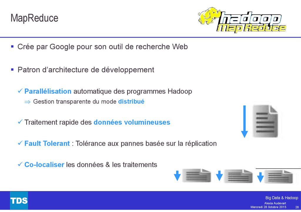 28 Big Data & Hadoop Alexia Audevart Mercredi 2...