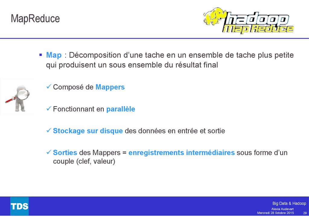 29 Big Data & Hadoop Alexia Audevart Mercredi 2...