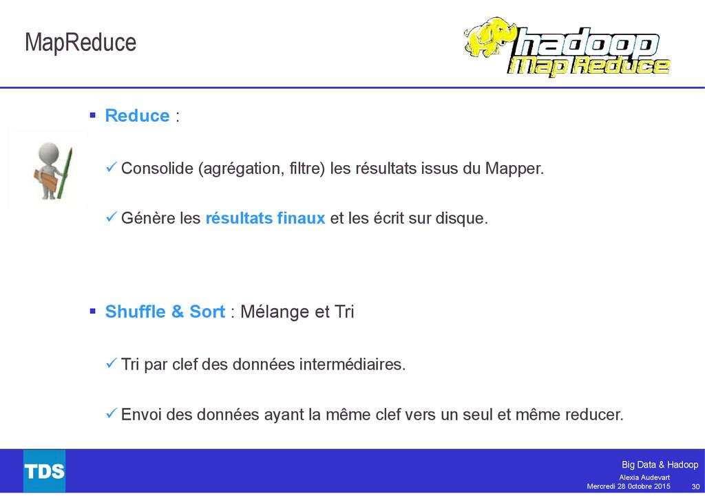30 Big Data & Hadoop Alexia Audevart Mercredi 2...