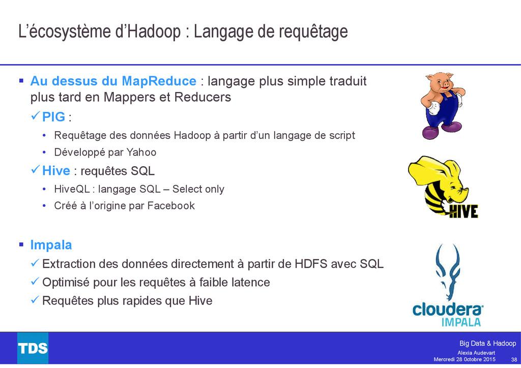 38 Big Data & Hadoop Alexia Audevart Mercredi 2...