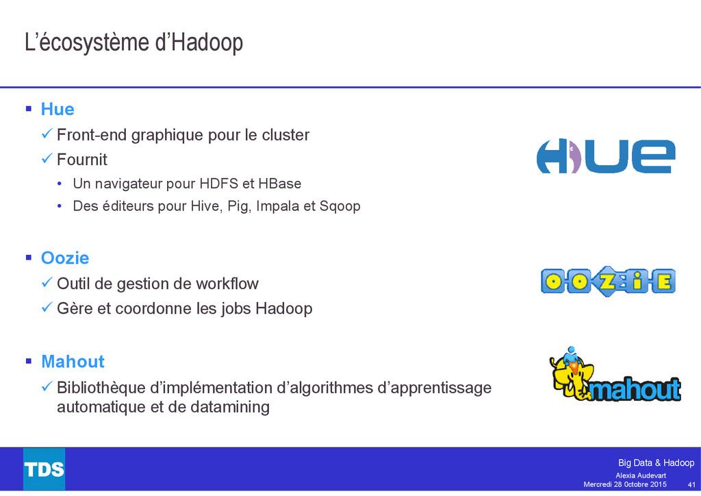 41 Big Data & Hadoop Alexia Audevart Mercredi 2...