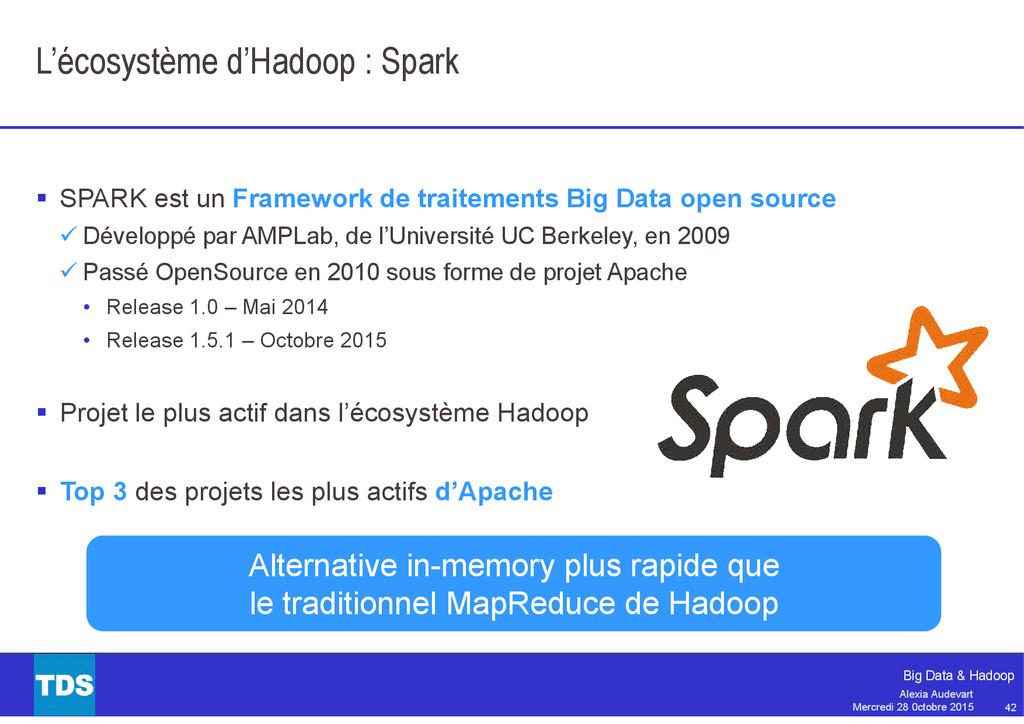42 Big Data & Hadoop Alexia Audevart Mercredi 2...