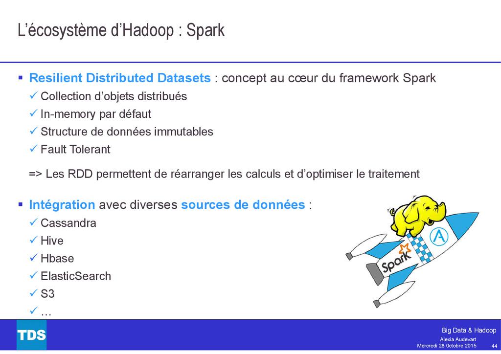 44 Big Data & Hadoop Alexia Audevart Mercredi 2...