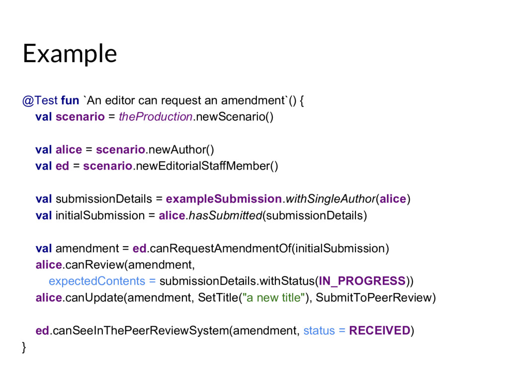 Example @Test fun `An editor can request an ame...
