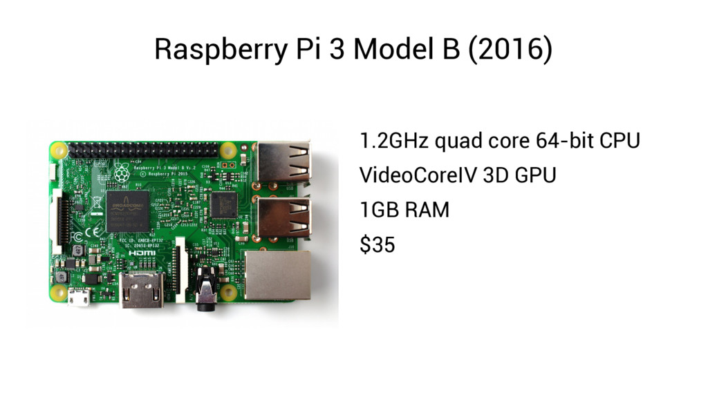 Raspberry Pi 3 Model B (2016) 1.2GHz quad core ...