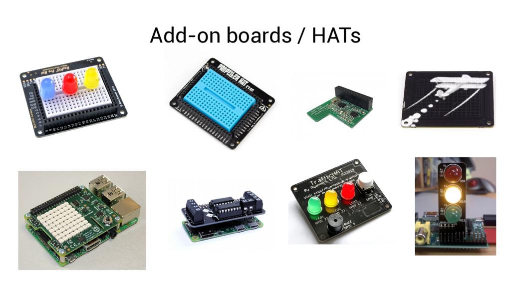 Add-on boards / HATs