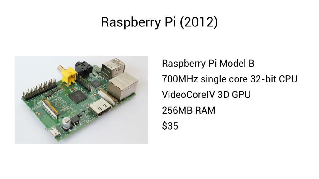 Raspberry Pi (2012) Raspberry Pi Model B 700MHz...