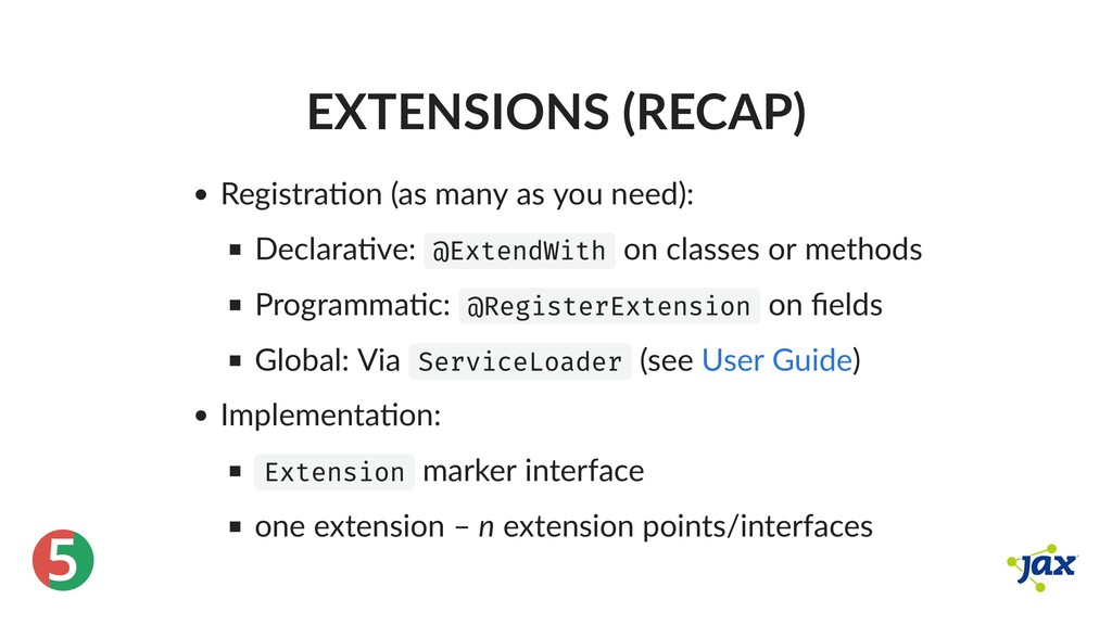® 5 EXTENSIONS (RECAP) Registra on (as many as ...