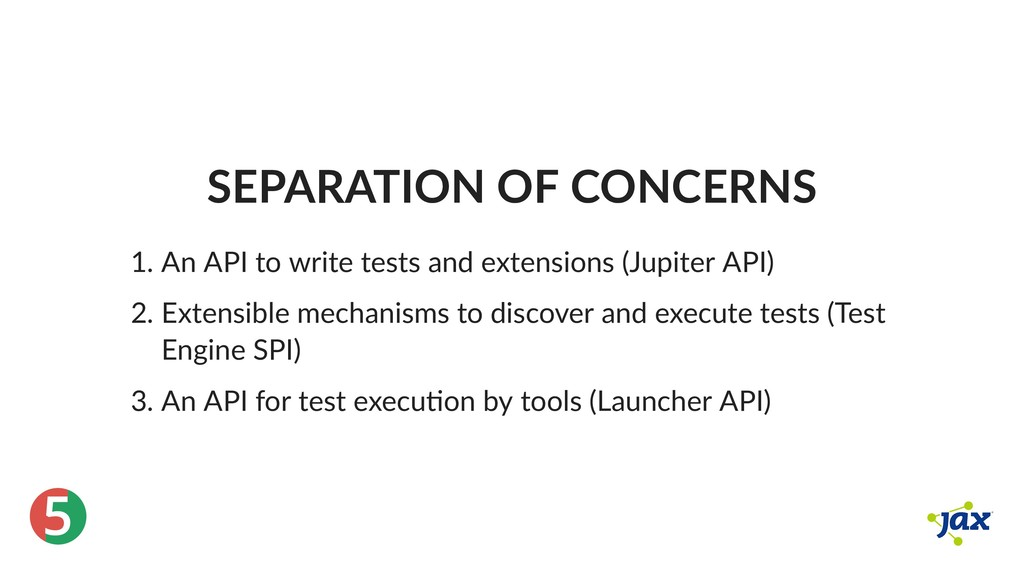 ® 5 SEPARATION OF CONCERNS 1. An API to write t...
