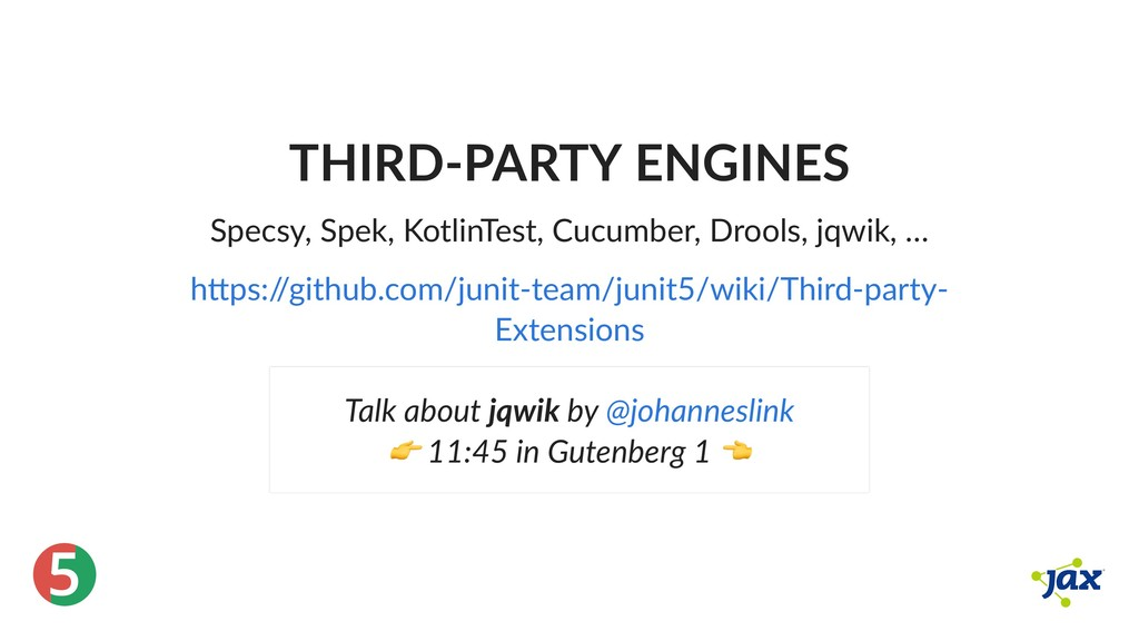 ® 5 THIRD‑PARTY ENGINES Specsy, Spek, KotlinTes...
