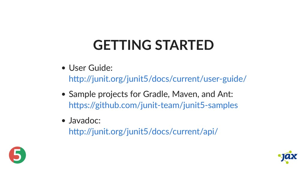 ® 5 GETTING STARTED User Guide: Sample projects...