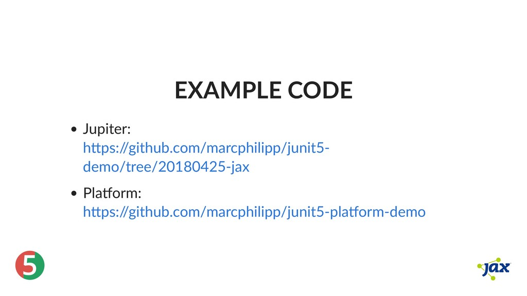 ® 5 EXAMPLE CODE Jupiter: Pla orm: h ps:/ /gith...