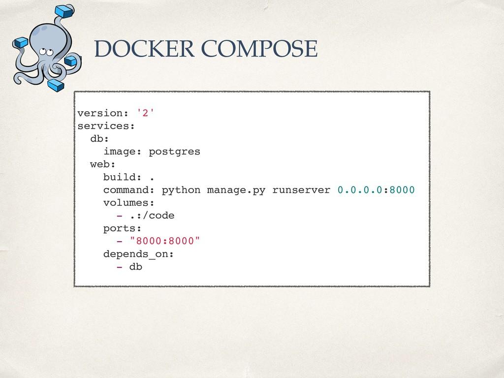 version: '2' services: db: image: postgres web:...