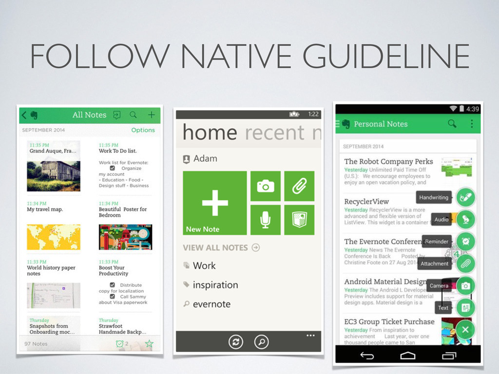 FOLLOW NATIVE GUIDELINE