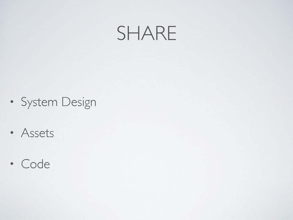 SHARE • System Design • Assets • Code