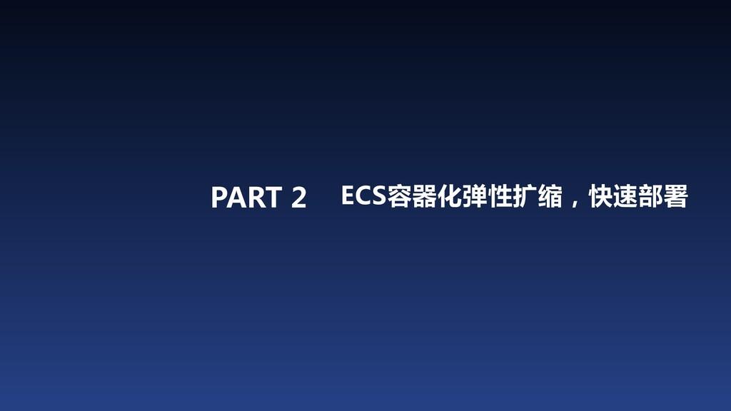 PART 2 ECS容器化弹性扩缩,快速部署