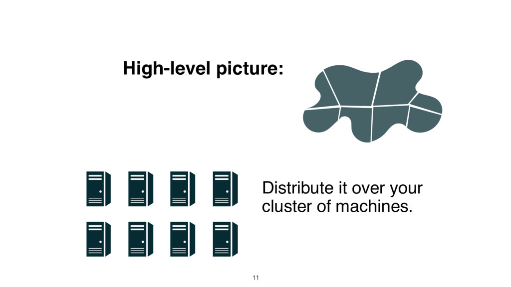 High-level picture: Distribute it over your clu...