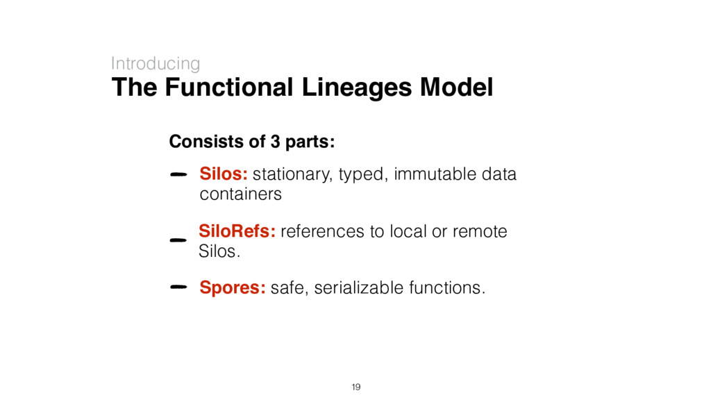 The Functional Lineages Model Introducing Consi...