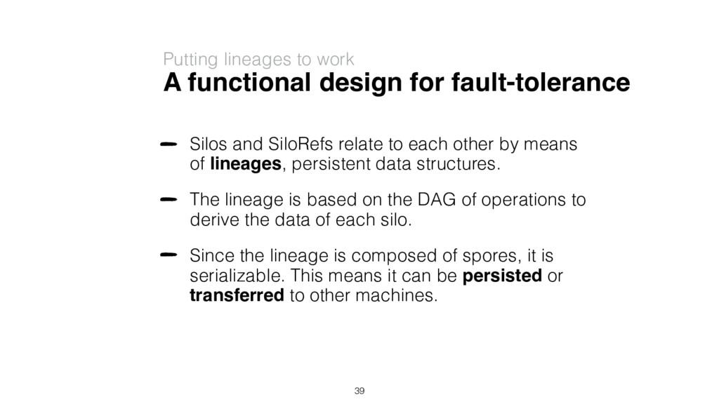 A functional design for fault-tolerance Silos a...